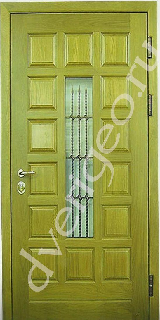дверь металлическая мдф со стеклопакетом